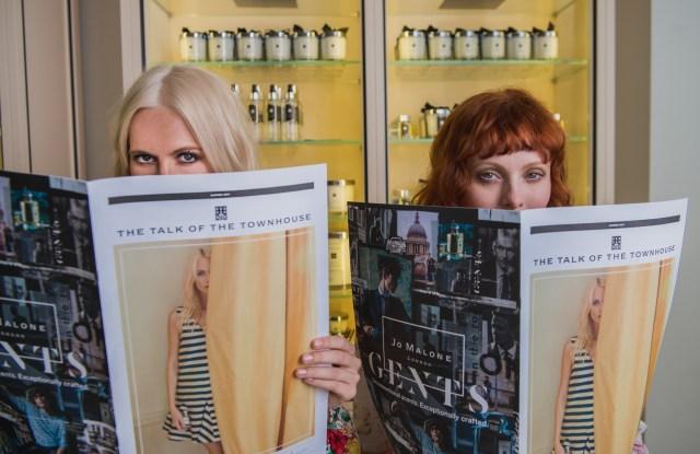 Jo Malone London Girls Poppy Delevingne and Karen Elson.
