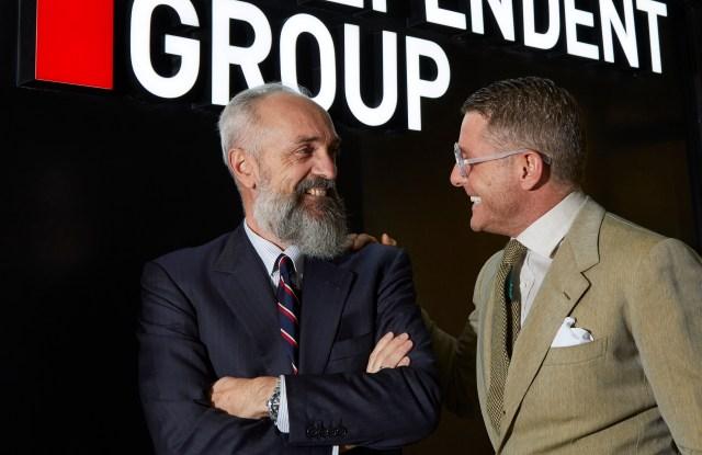 Giovanni Carlino and Lapo Elkann