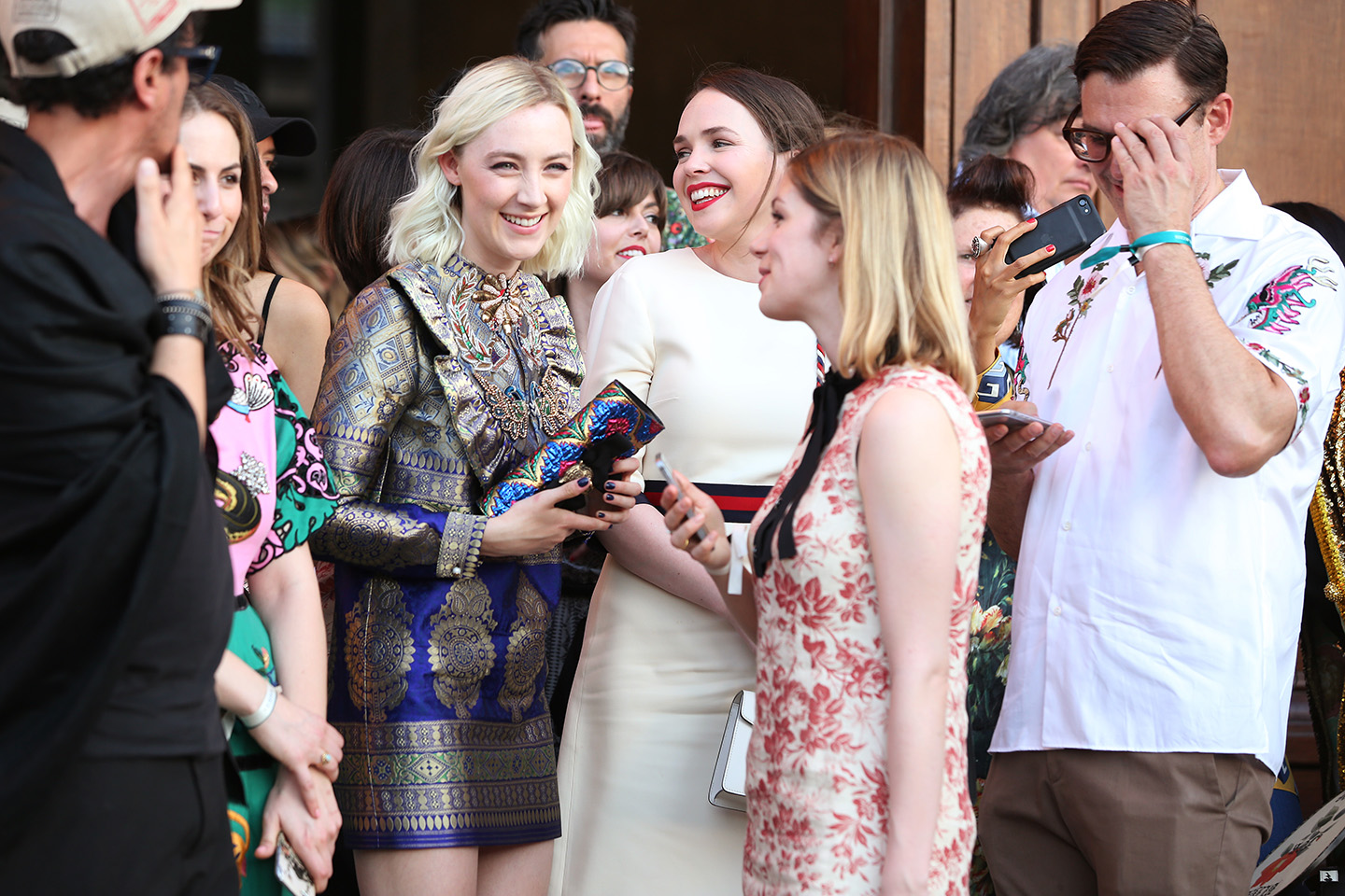 Saoirse Ronan at the Gucci Resort 2018 show in Florence