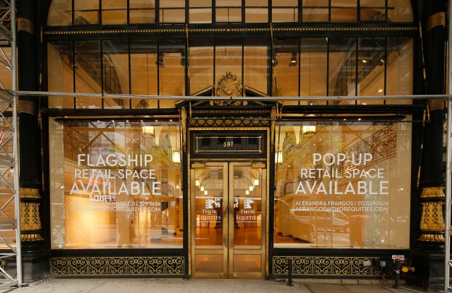 Available retail space on Madison Ave.
