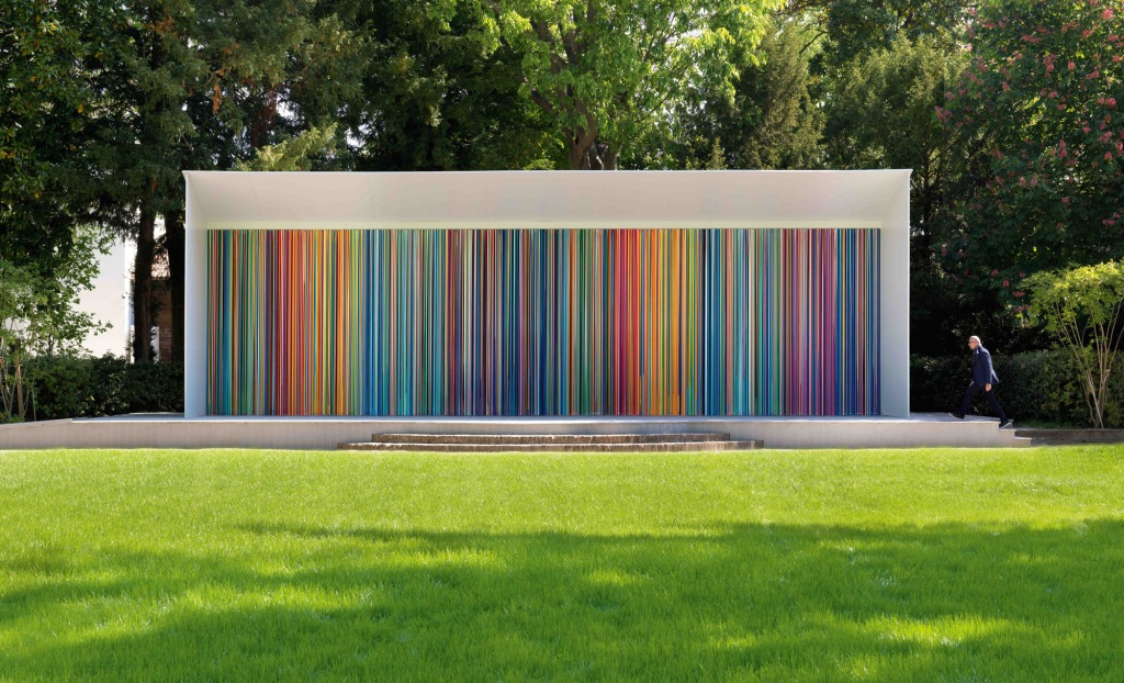"""Giardini Colourfall"" by Ian Davenport."