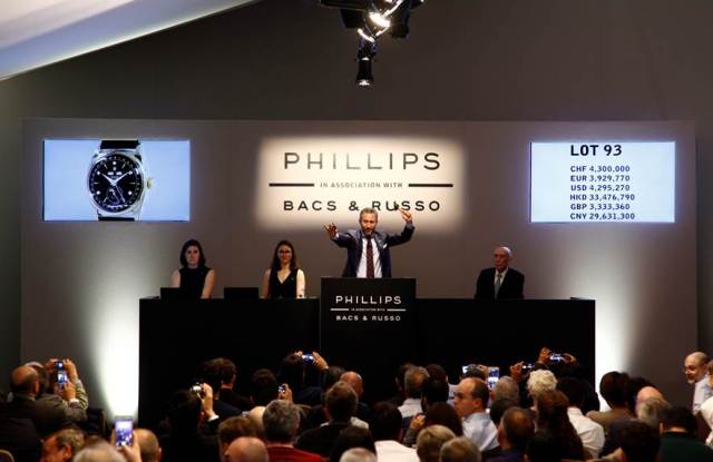 Aurel Bacs auctions off the Bao Dai Rolex, which set a world record for a wristwatch for a second time.