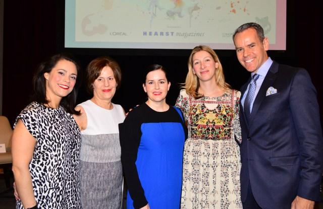 Verane de Marffy, Linda Levy, Emily Dougherty, Dianna Ruth and Bob DeBaker at FGI Pioneering Beauty