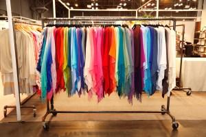 Multi-color cashmere ponchos from Claudia Nichole Cashmere.