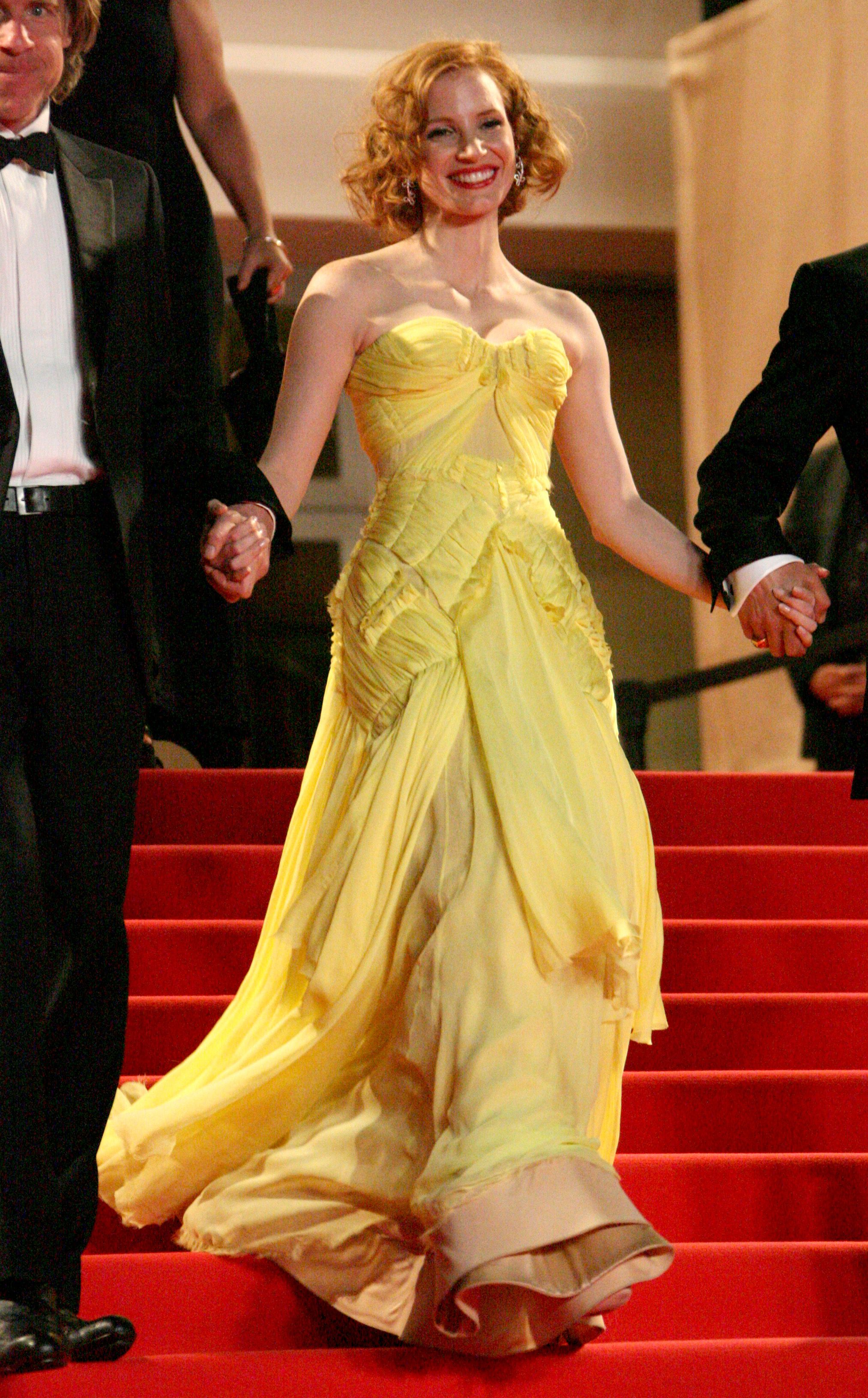 Jessica Chastain'Tree of Life' film premiere at the 64th Cannes Film Festival, Cannes, France - 16 May 2011