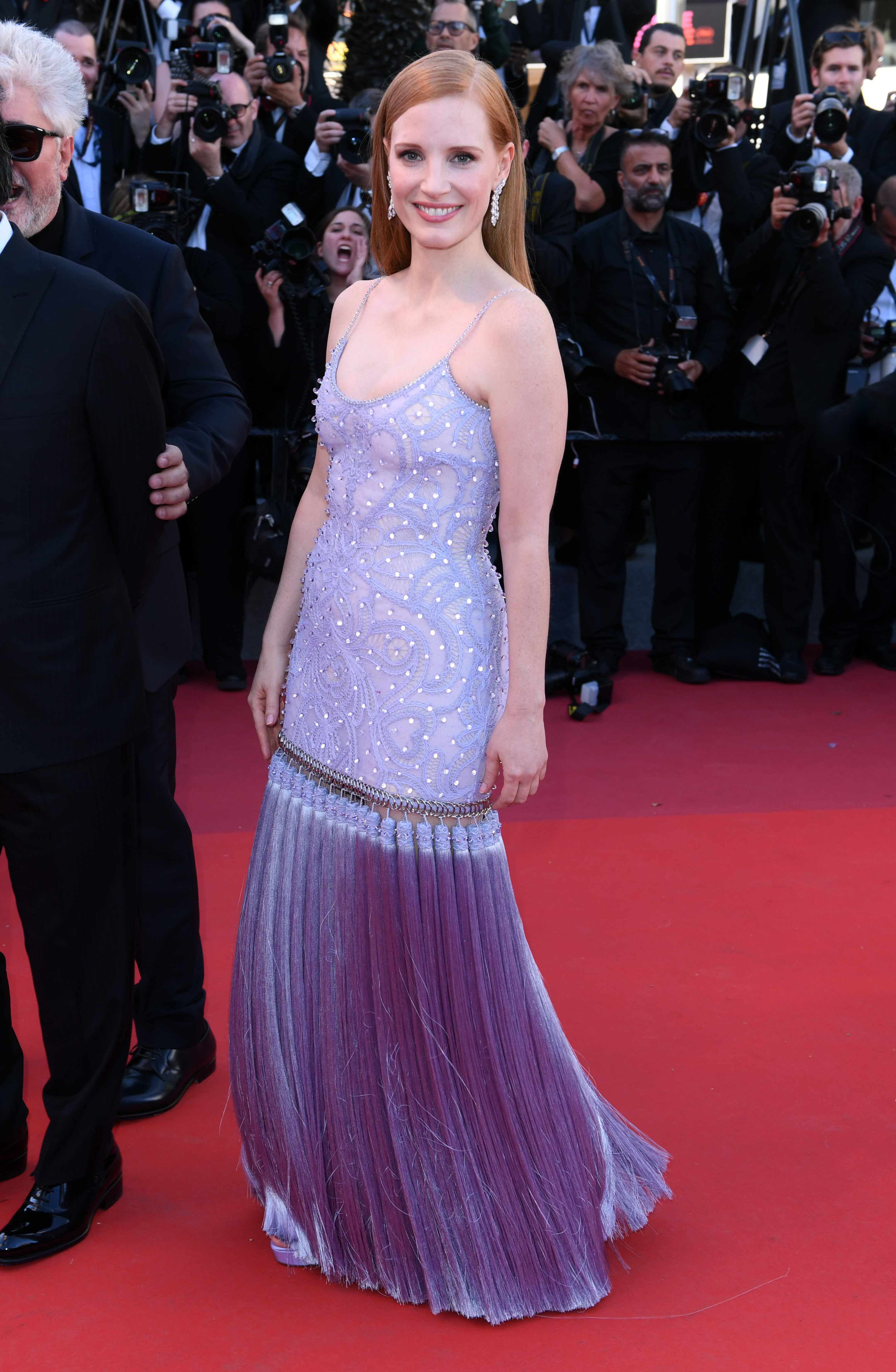 Jessica Chastain'Okja' premiere, 70th Cannes Film Festival, France - 19 May 2017 WEARING GIVENCHY SAME OUTFIT AS CATWALK MODEL KENDALL JENNER *4885101o
