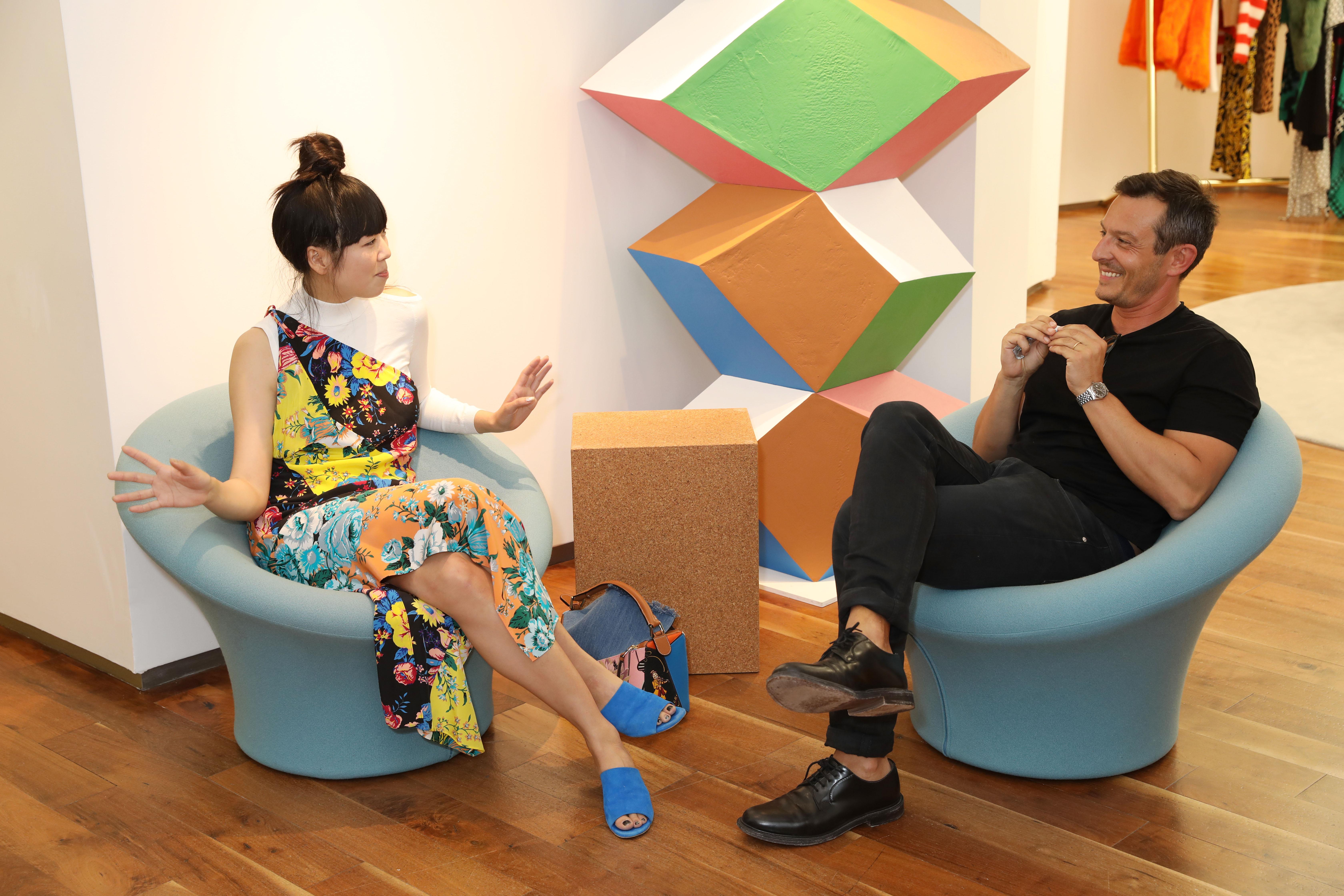 Susie Lau and Jonathan Saunders