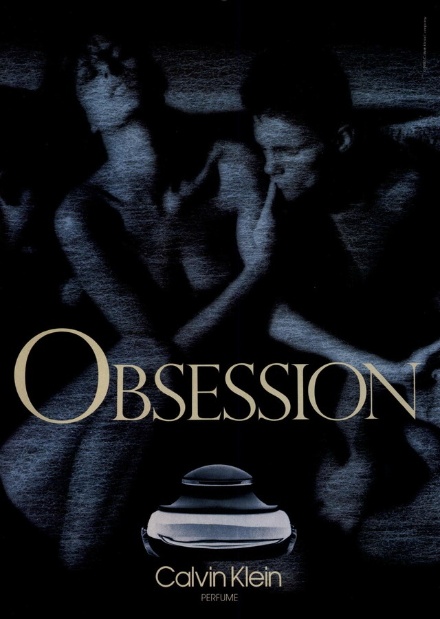 """Calvin Klein's """"Obsession"""" fragrance campaign, 1985."""
