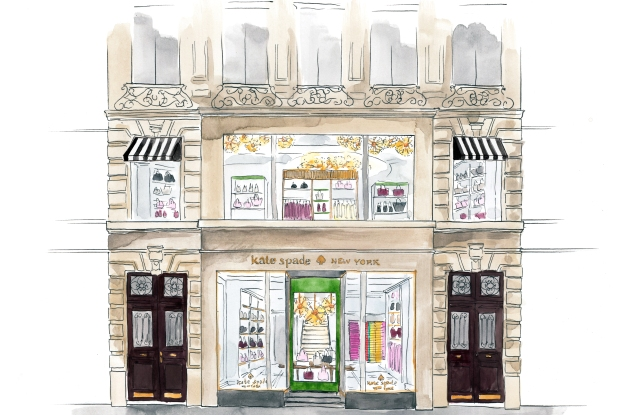 A rendering of Kate Spade New York's Paris store