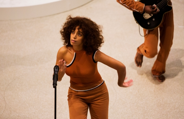 Solange performs at Solange: An Ode To, part of Red Bull Music Academy Festival, at the Solomon R. Guggenheim Museum in New York, NY, US on 18 May 2017.