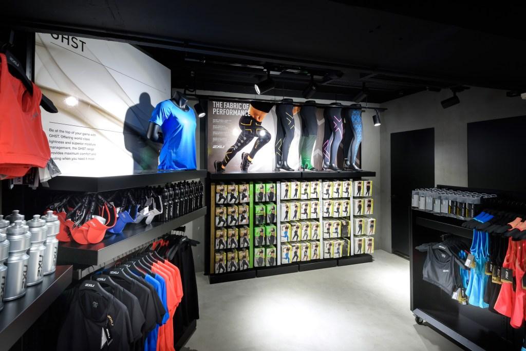 Inside the Hong Kong 2XU store.