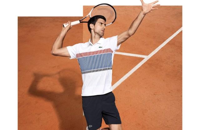 Lacoste's Novak Djokovic collection.