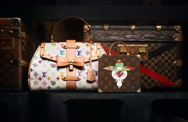 Bags from the collaboration between Louis Vuitton and Takashi Murakami for spring 2003.