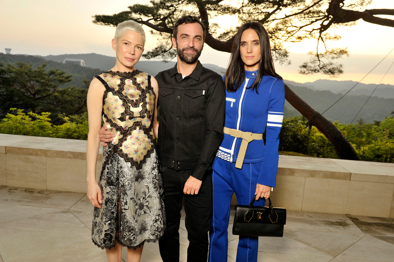 Michelle Williams, Nicolas Ghesquière and Jennifer Connelly