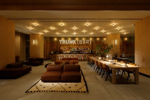The lounge at Trunk Hotel in Tokyo.
