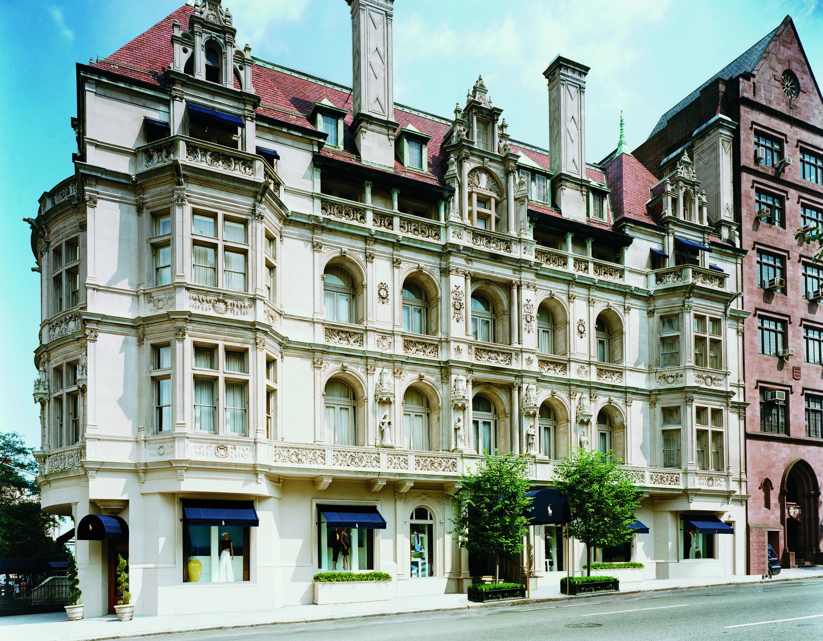The Rhinelander Mansion houses Lauren's flagship.