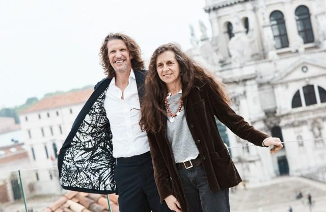 Huntsman's Pierre Lagrange and artist Beatrice Caracciolo in Venice.