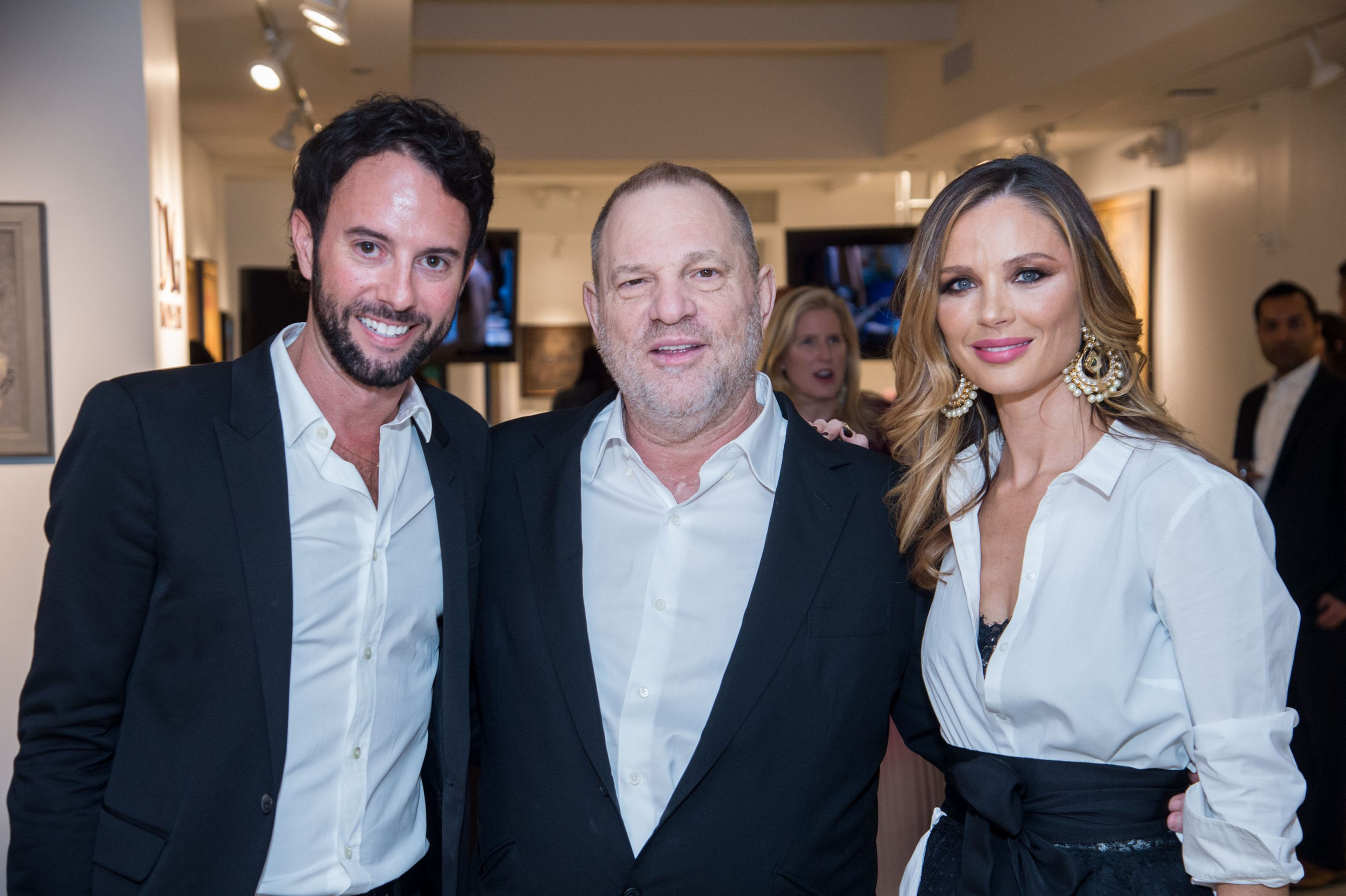 Justin Reeves, Harvey Weinstein and Georgina ChapmanMagic Bus Cocktail Party, New York, USA - 09 May 2017Georgina Chapman to host Cocktail party for Magic Bus