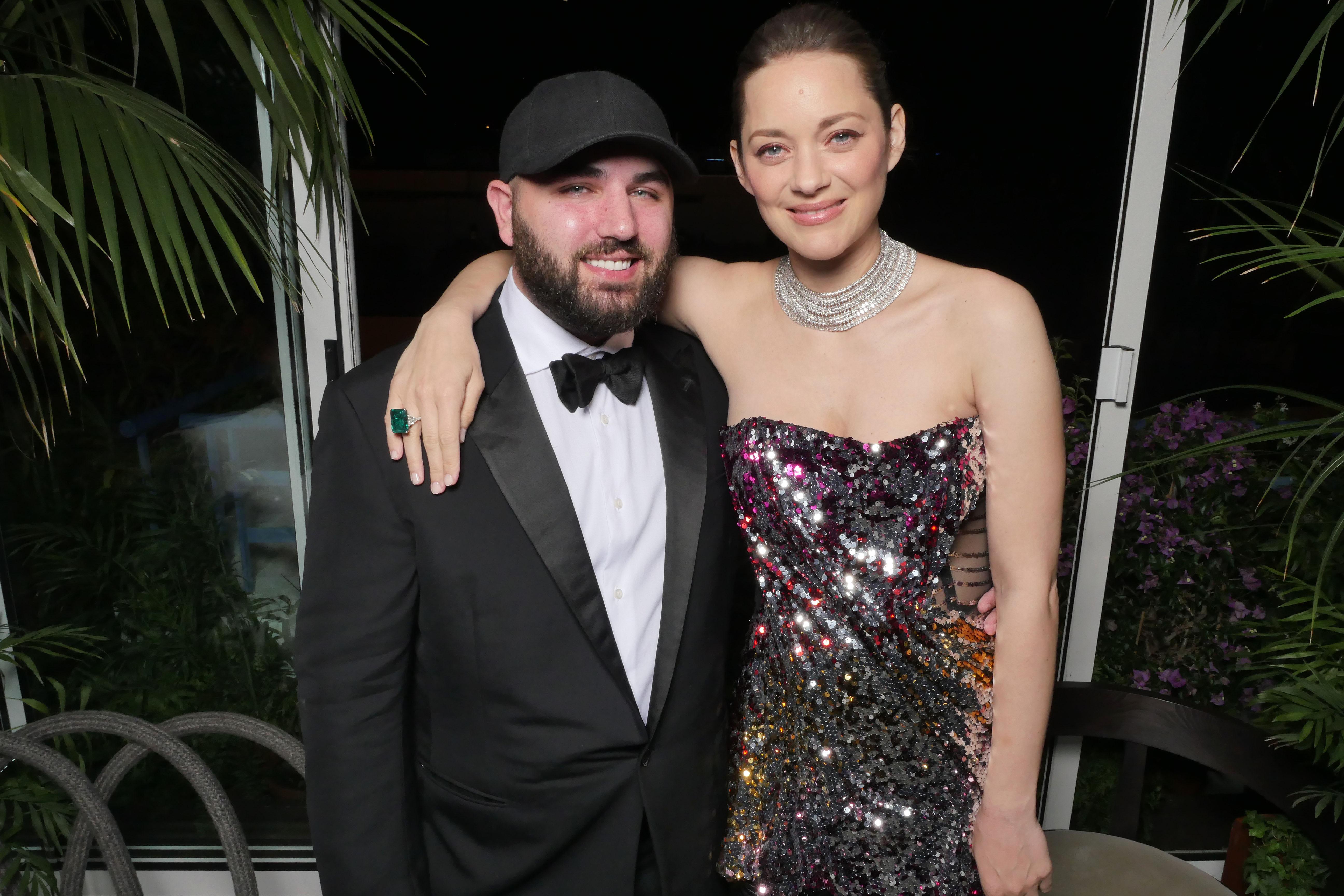 Marion Cotillard with Halpern's Michael Halpern.