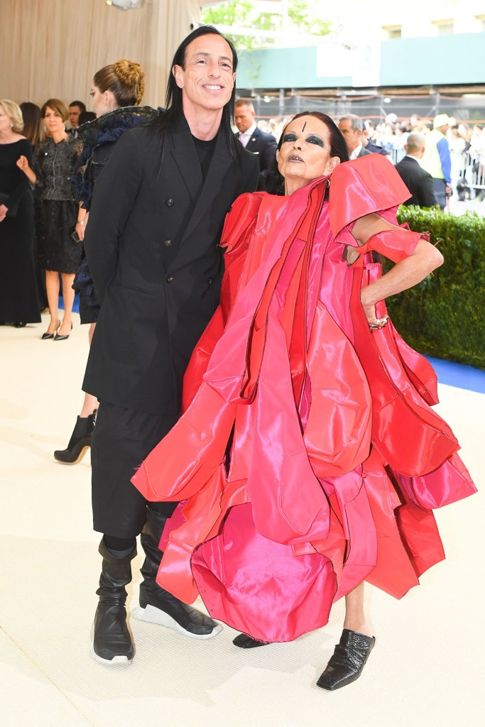 Met Gala 2017 Rick Owens and Michèle Lamy