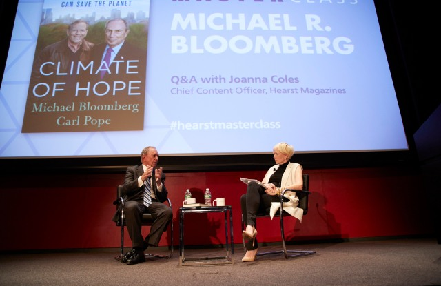 Joanna Coles interviews Michael Bloomberg at Hearst.