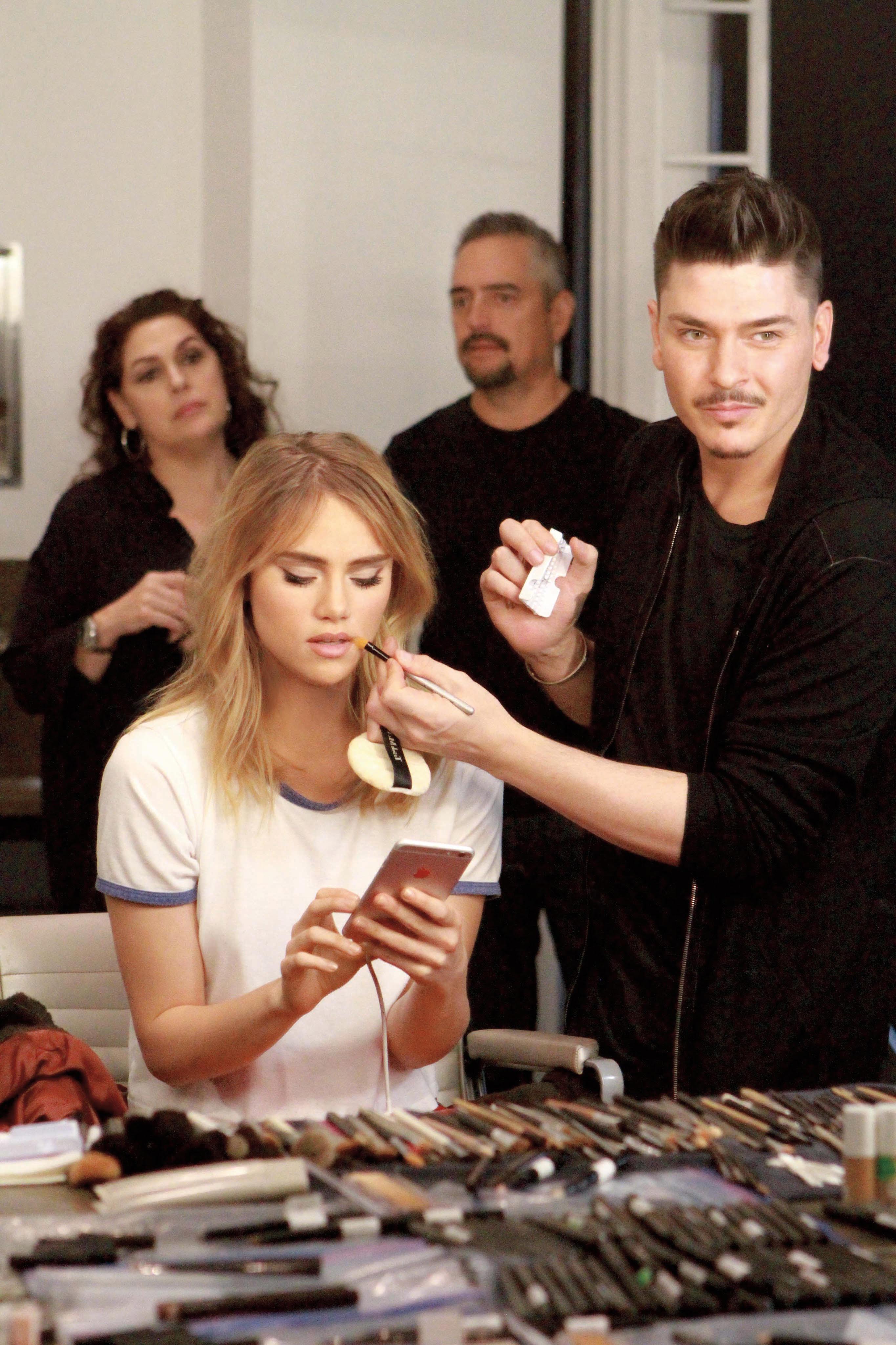 Behind the scenes with Mario Dedivanovic and Suki Waterhouse shooting Laura Mercier's fall 2017 campaign.