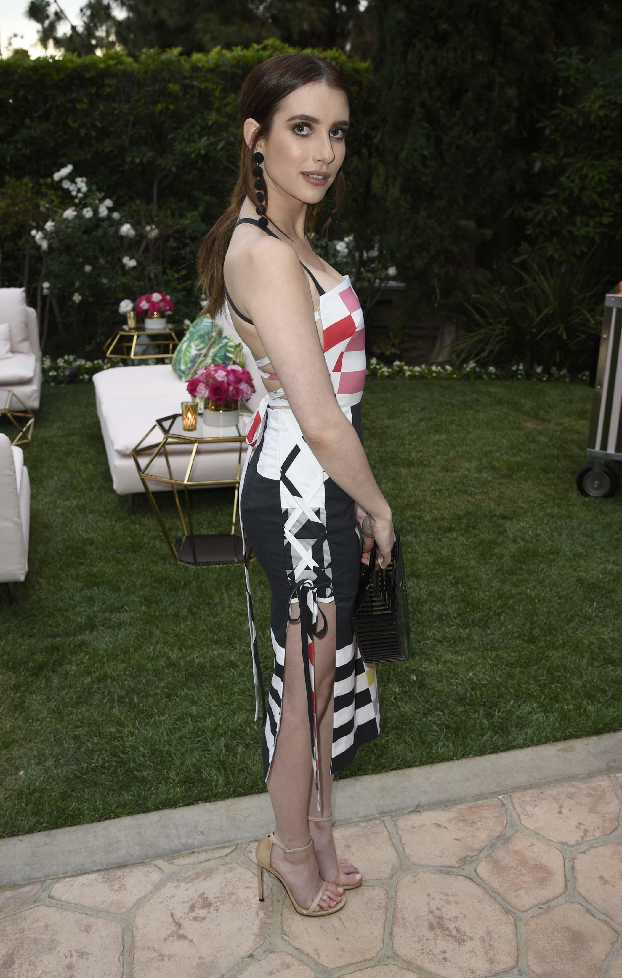 Emma Roberts at the Kim Crawford Rosé party