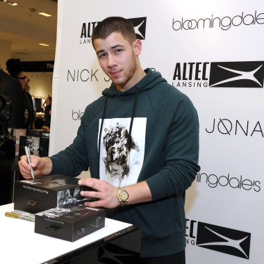- New York, NY - 05/06/2017 - Nick Jonas x Altec Lansing Exclusive Launch at Bloomingdale`s.-PICTURED: Nick Jonas -PHOTO by: Michael Simon/startraksphoto.com -MS378630 Editorial - Rights Managed Image - Please contact www.startraksphoto.com for licensing fee Startraks Photo Startraks Photo New York, NY  For licensing please call 212-414-9464 or email sales@startraksphoto.com Image may not be published in any way that is or might be deemed defamatory, libelous, pornographic, or obscene. Please consult our sales department for any clarification or question you may have Startraks Photo reserves the right to pursue unauthorized users of this image. If you violate our intellectual property you may be liable for actual damages, loss of income, and profits you derive from the use of this image, and where appropriate, the cost of collection and/or statutory damages.