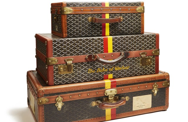 Goyard trunks monogrammed for the Duke of Windsor.