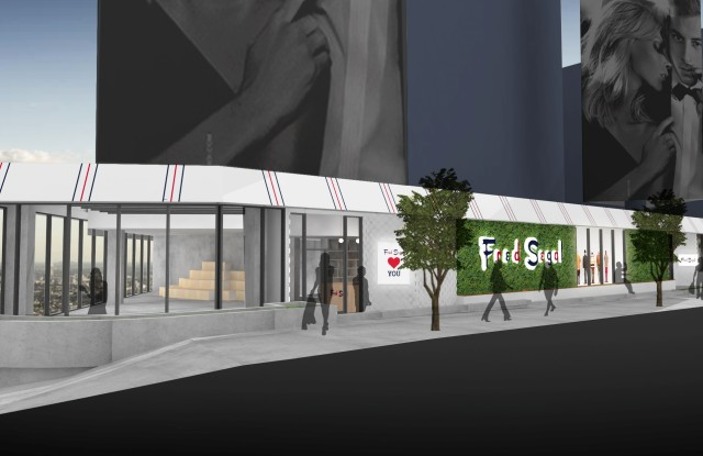 A rendering of Fred Segal West Hollywood's exterior