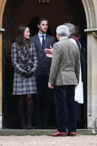 Pippa Middleton and James Matthews at the Christmas Day service at St Mark's Church