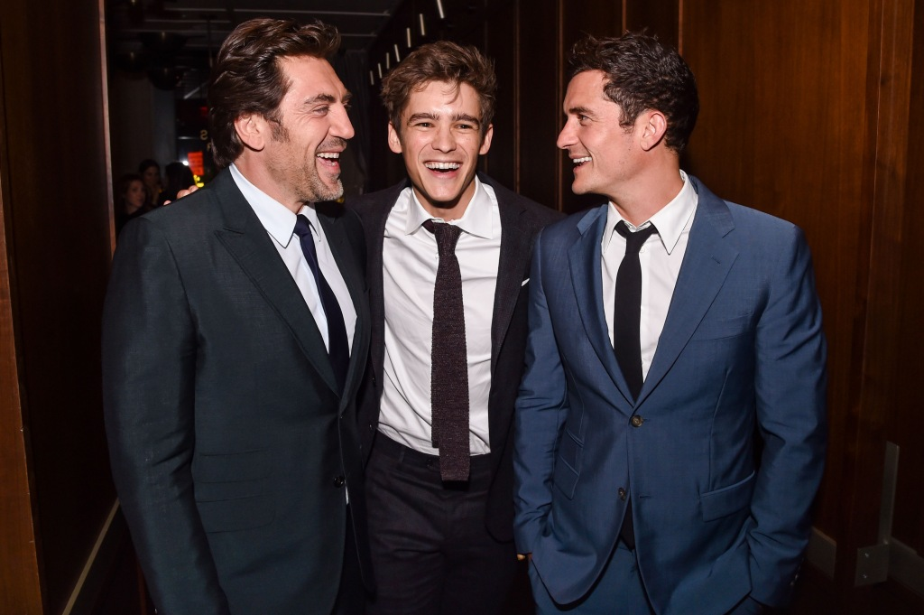 Javier Bardem, Brenton Thwaites and Orlando Bloom