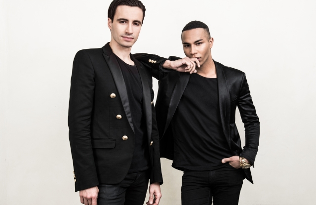 Sébastien Bertaud and Olivier Rousteing