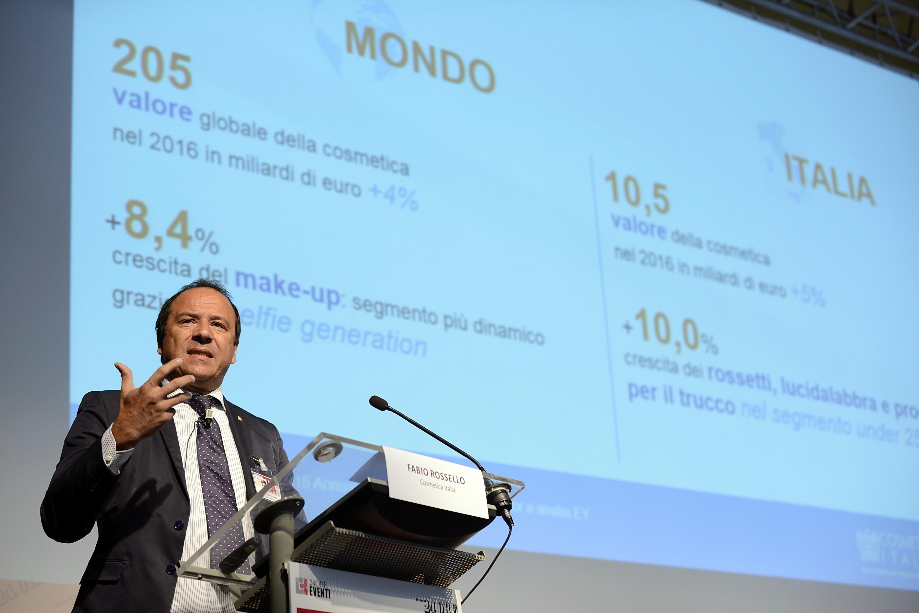Fabio Rossello, president of Cosmetica Italia.