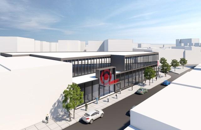 A rendering of Target's flexible format store opening in Jackson Heights, Queens.