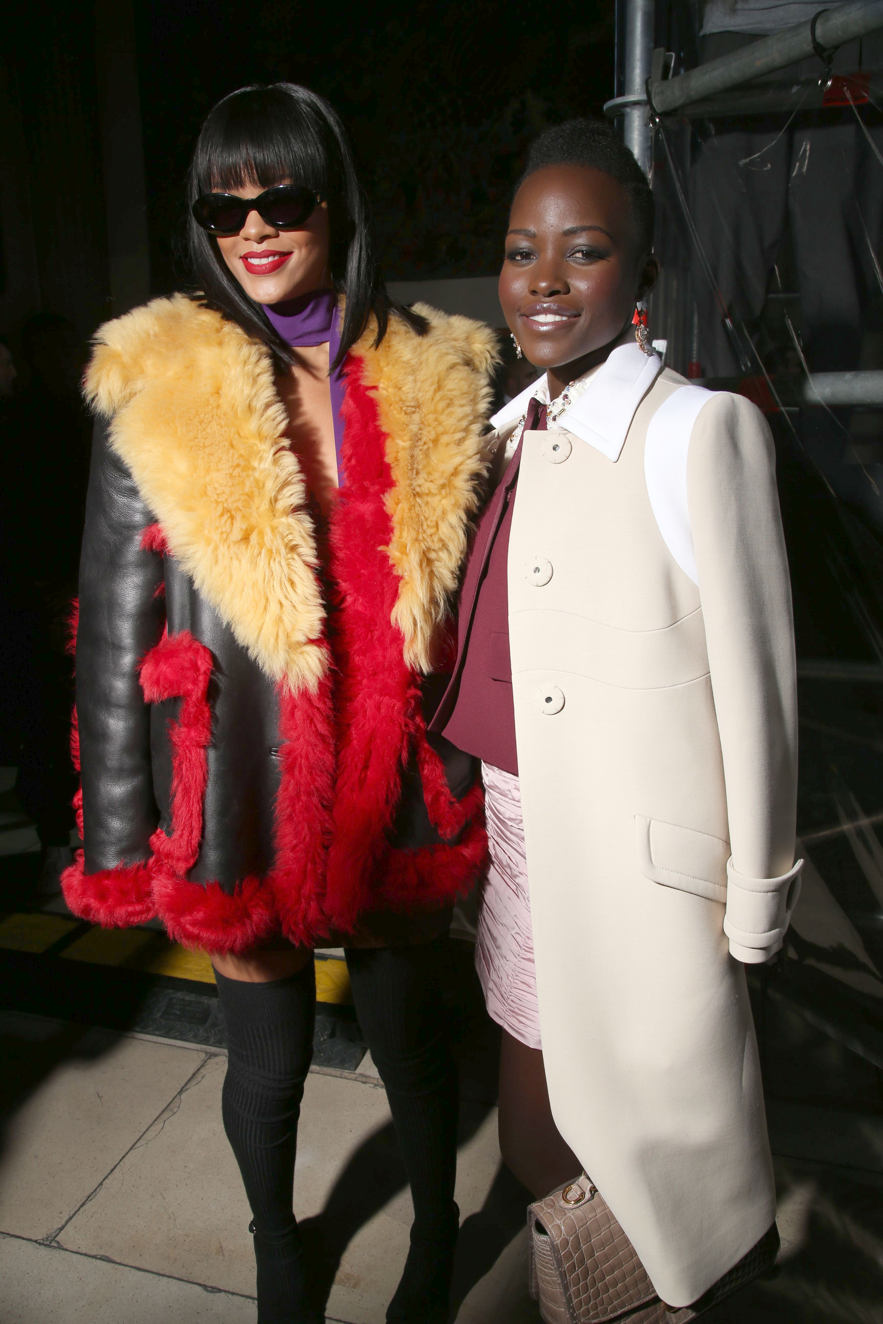 Rihanna and Lupita Nyong'oMiu Miu show, Autumn Winter 2014, Paris Fashion Week, France - 05 Mar 2014