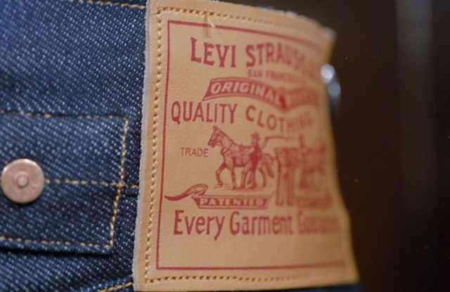 Copy of original Levi made by Levi Strauss after emigrating to America, Judisches Museum, Berlin, GermanyBerlin, Germany - 2007