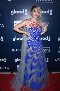 Paris Jackson28th Annual GLAAD Media Awards, Arrivals, Los Angeles, USA - 01 Apr 2017 WEARING YANINA COUTURE SAME OUTFIT AS CATWALK MODEL *5746745c