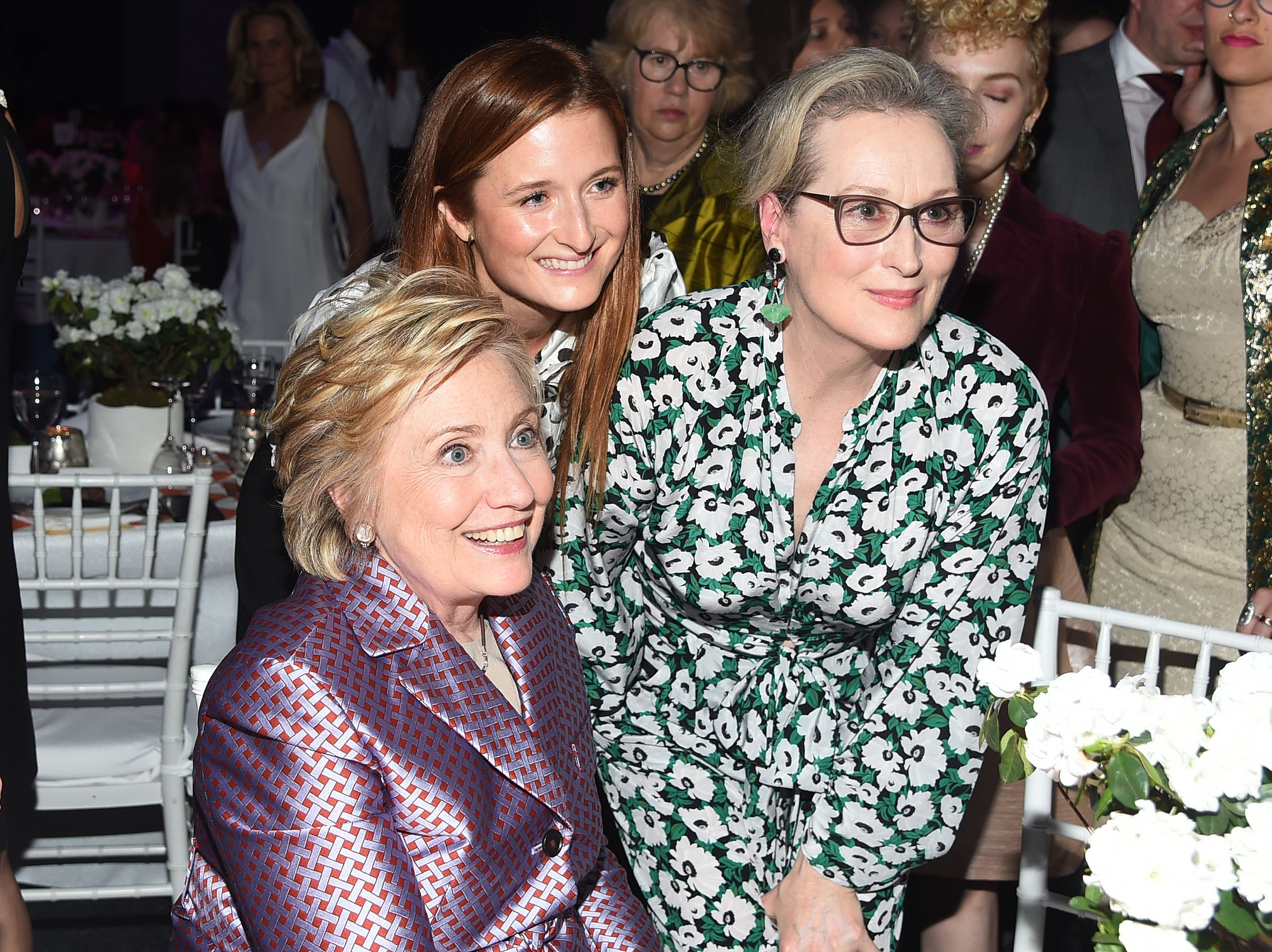 Hillary Clinton, Grace Gummer, Meryl StreepPlanned Parenthood 100th Anniversary Gala, Inside, New York, USA - 02 May 2017