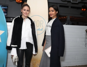 Olivia Palermo and Freida Pinto Christian Dior Cruise 2018 Welcome Dinner, Dior Surf Club, Los Angeles, USA - 10 May 2017