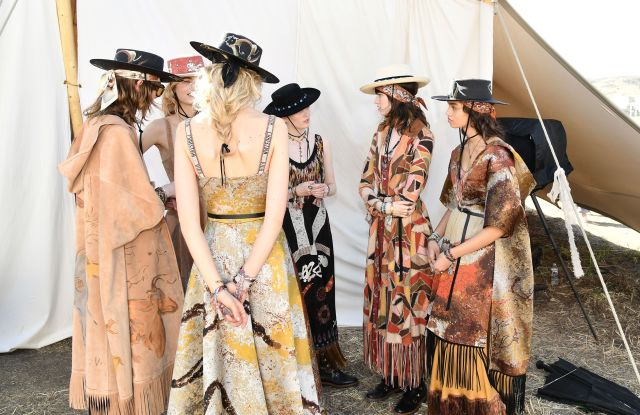 Models backstageDior Cruise Collection 2018 show, Backstage, Los Angeles, USA - 11 May 2017