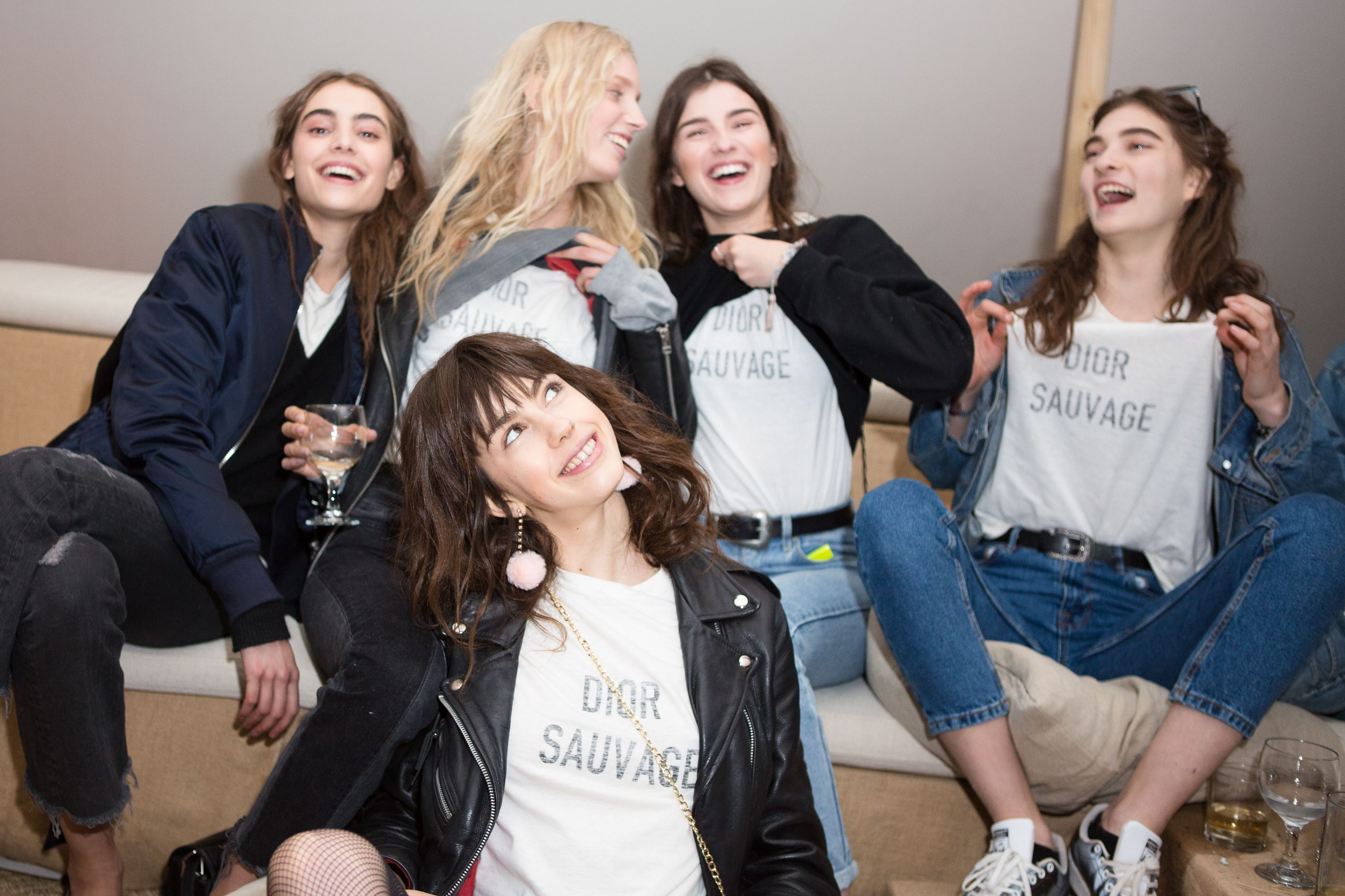 Models backstageDior Cruise Collection 2018 show, Los Angeles, USA - 11 May 2017