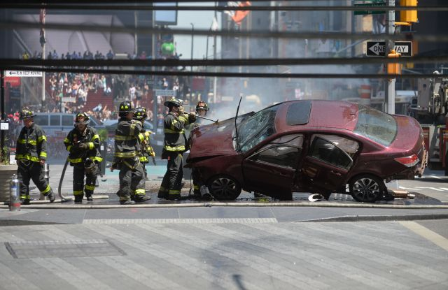Aftermath of a car being driven into Pedestrians in Times SquareCar Driven into Pedestrians in Times Square, New York, USA - 18 May 2017