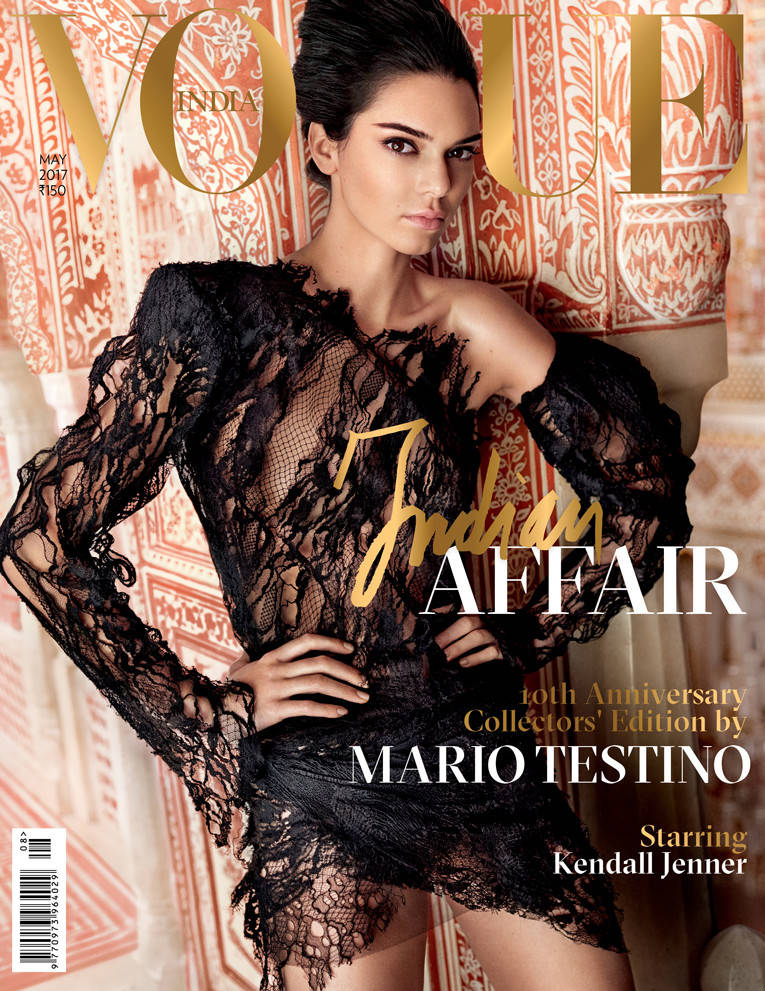 Vogue India's 10th Anniversary cover featuring Kendall Jenner