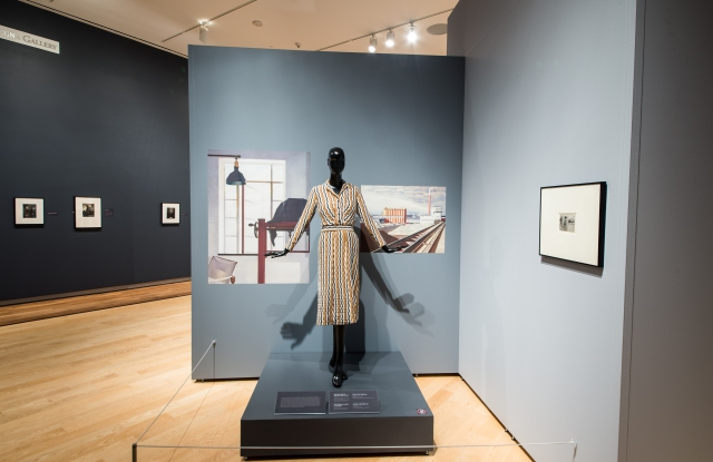 This dress was reproduced to mirror textiles designed by the artist Charles Sheeler.