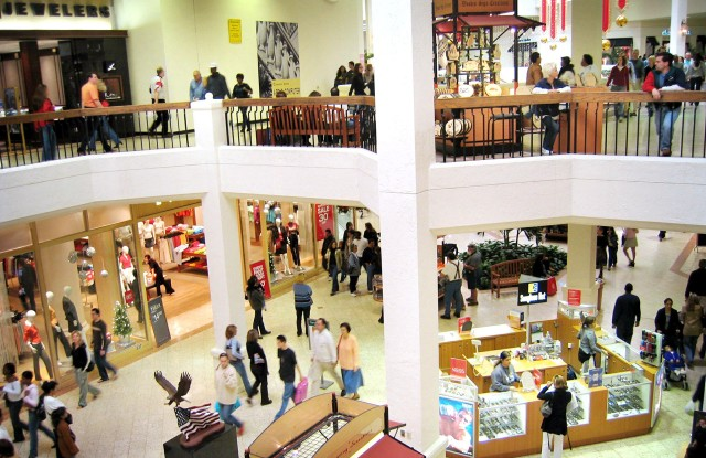 Shoppers at Aventura shopping mall in Miami.