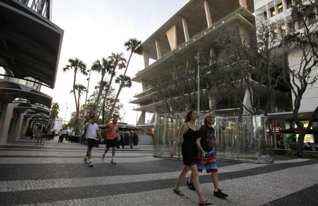 Shoppers in Miami.