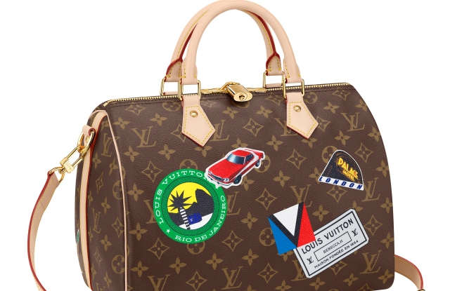 A customized Speedy from Louis Vuitton's 'My LV World Tour' collection.