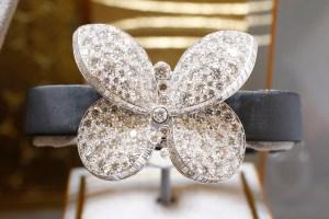 "Graff's ""Princess Butterfly"" bracelet with secret watch, $150,000"