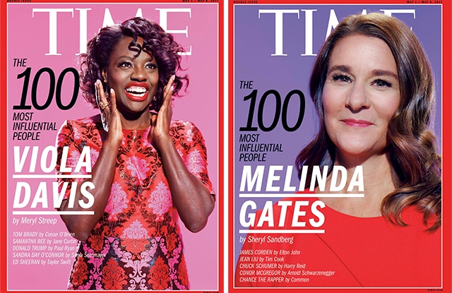 Viola Davis and Melinda Gates' covers for Time 100's Most Influential People issue.